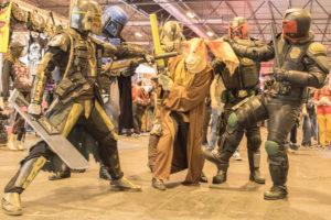 Algunos de los cosplay de Heroes Comic Con