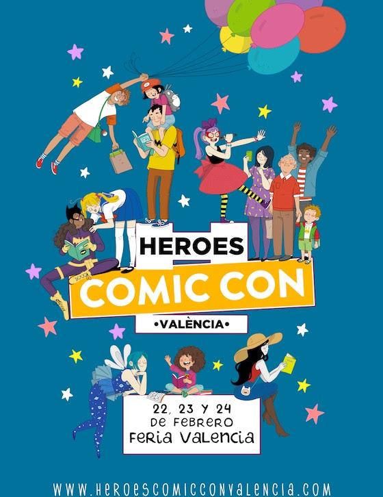 Cartel Heroes Comic Con Valencia 2019