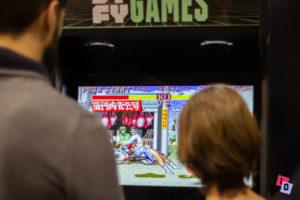 Algunos de los juegos que podían probarse en Héroes Comic Con Valencia