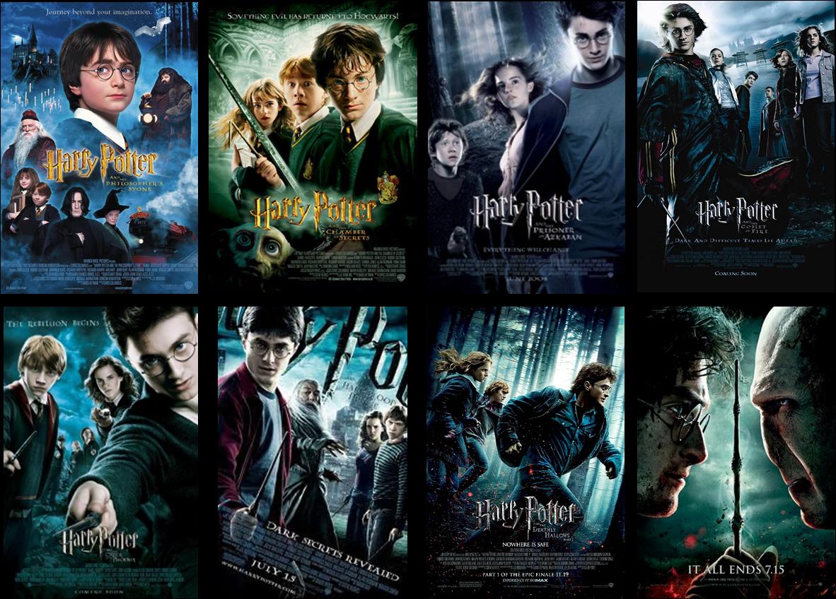 Todos los carteles de las películas de Harry Potter
