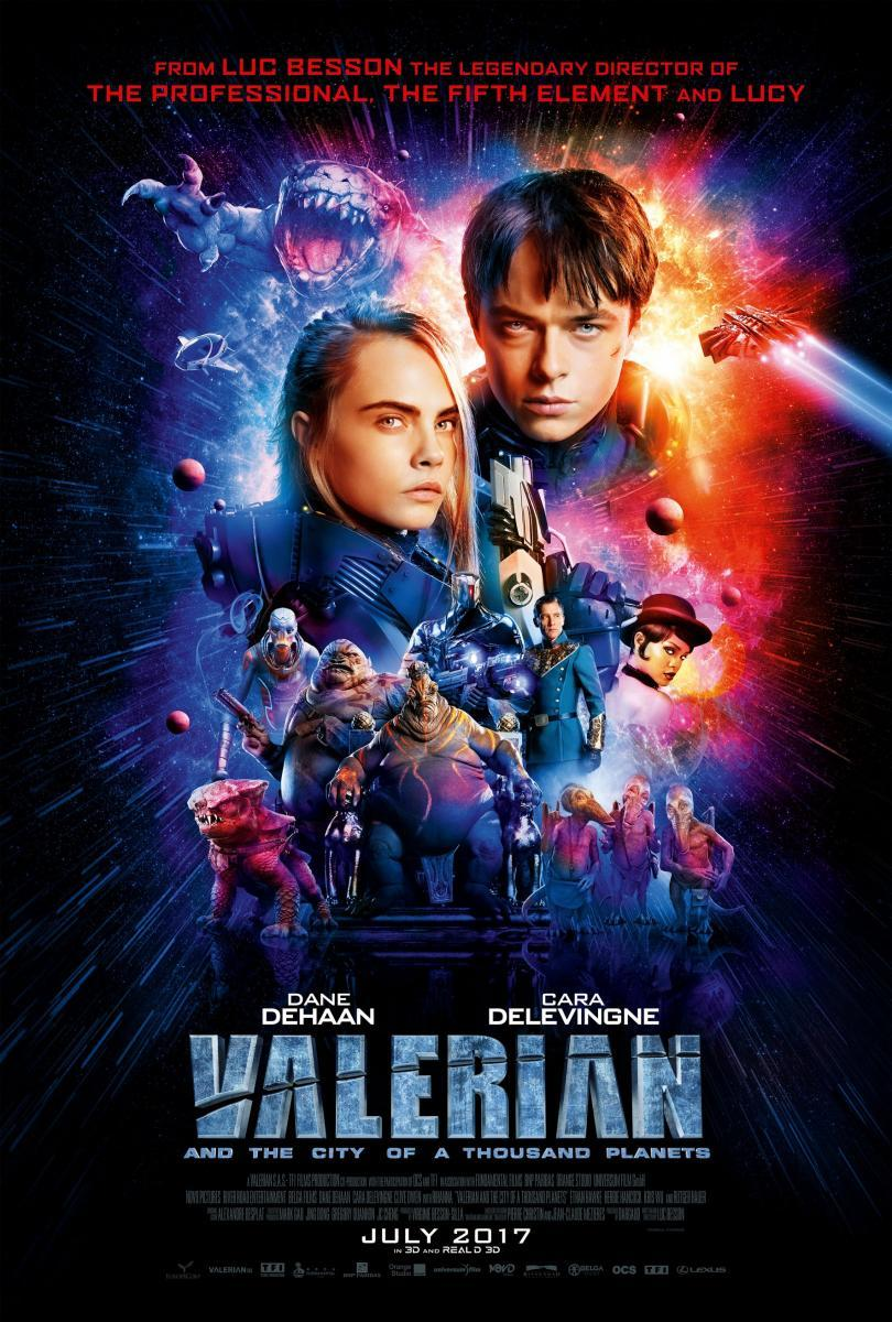 Cartel de Valerian y la ciudad de los mil planetas