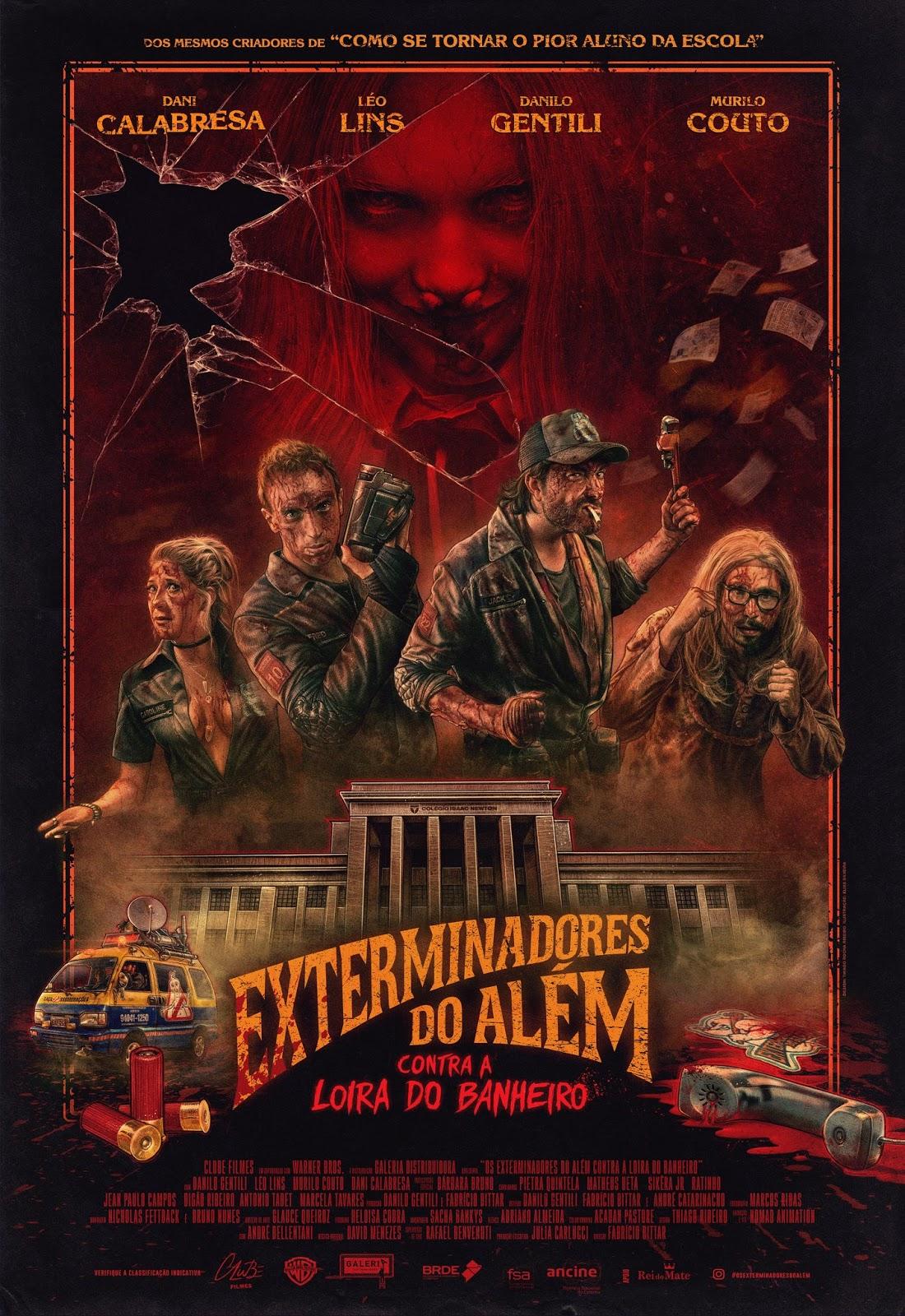 Cartel de Los exterminadores del más allá